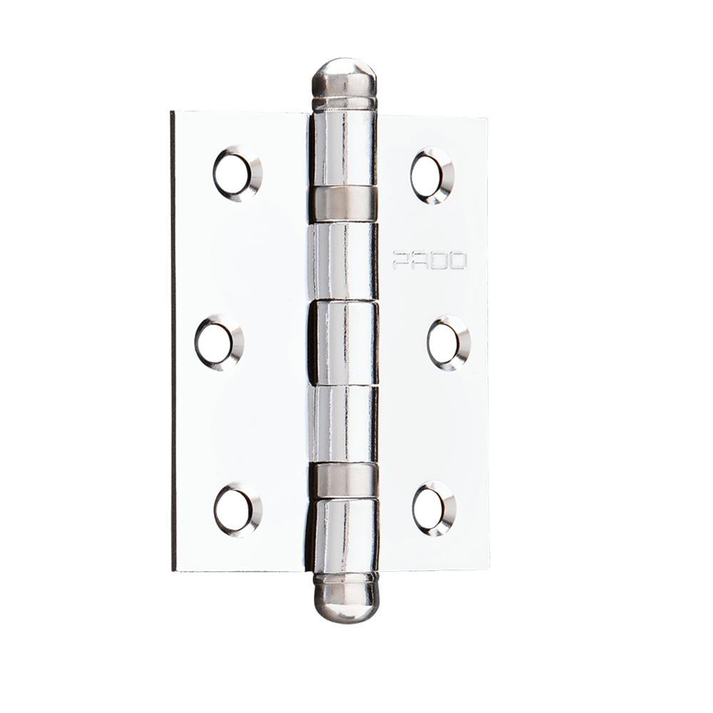 Dobradica de Canto Aco Inox Escovado 3 x 212 com Anel de Rolamento Prata 3 Unidades - Pado