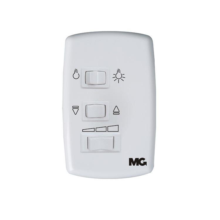 Variador de Velocidade Interruptor Conjunto Montado de Embutir 127V com Placa - MarGirius