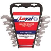 Jogo De Chaves Fixas 6 Peças - Loyal