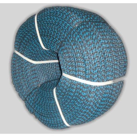 Corda Multiuso de Poliester 100mm x 150m Azul e preto - Cordas Erval