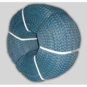 Corda Multiuso de Poliéster 10,0mm x 15,0m Azul e preto - Cordas Erval