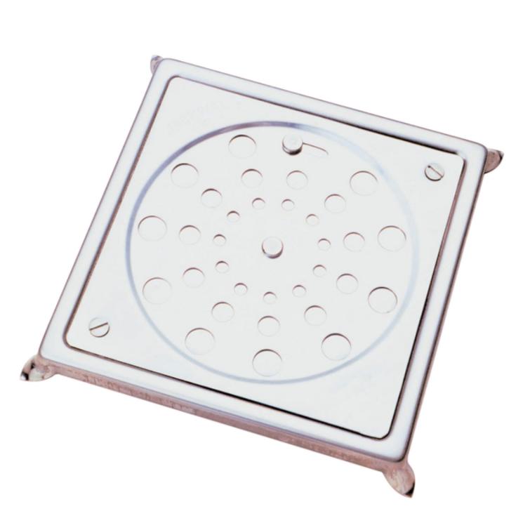 Grelha de Inox Quadrada para Esgoto com Caixa 10cm 002409 - Jackwal