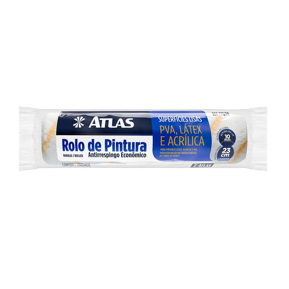 Rolo de La Sintetica 23cm Sem Suporte - 773 - Atlas