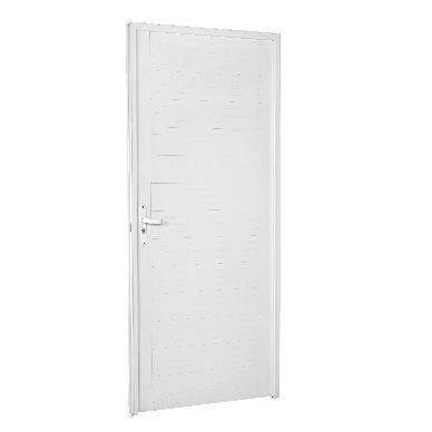 Porta de Abrir de Aluminio 210cm x 90cm Confort Lado Direito - Ebel