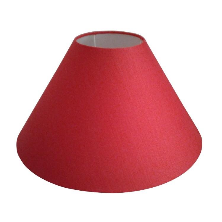 Cupula para Abajur Conica em Tecido 15cm x 45cm Vermelho - Cupulas Sao Jorge