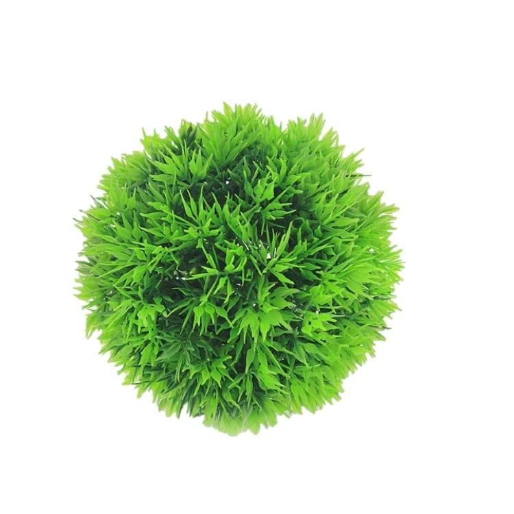 Enfeite Bola Grama Artificial 10cm Verde
