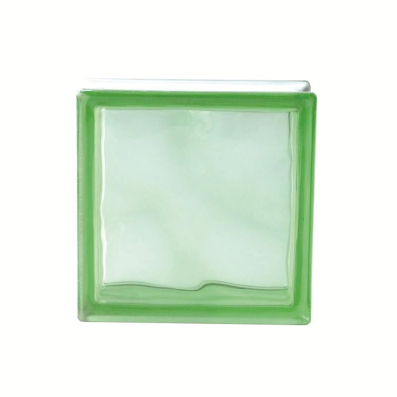 Bloco de Vidro 19x19 cm Verde Cloudy Green - Murano