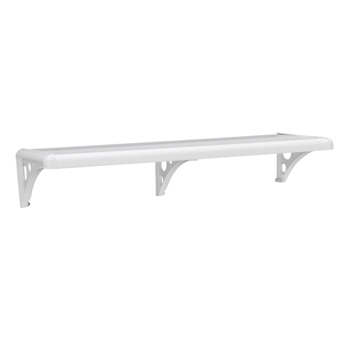 Prateleira Borda Arredondada de Plastico PVC com Suporte 305 x 1235 x 5cm Branco - Astra