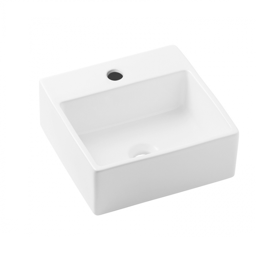 Cuba de Louca de Apoio com Mesa Quadrado 41x41 cm Basic Branco - Celite