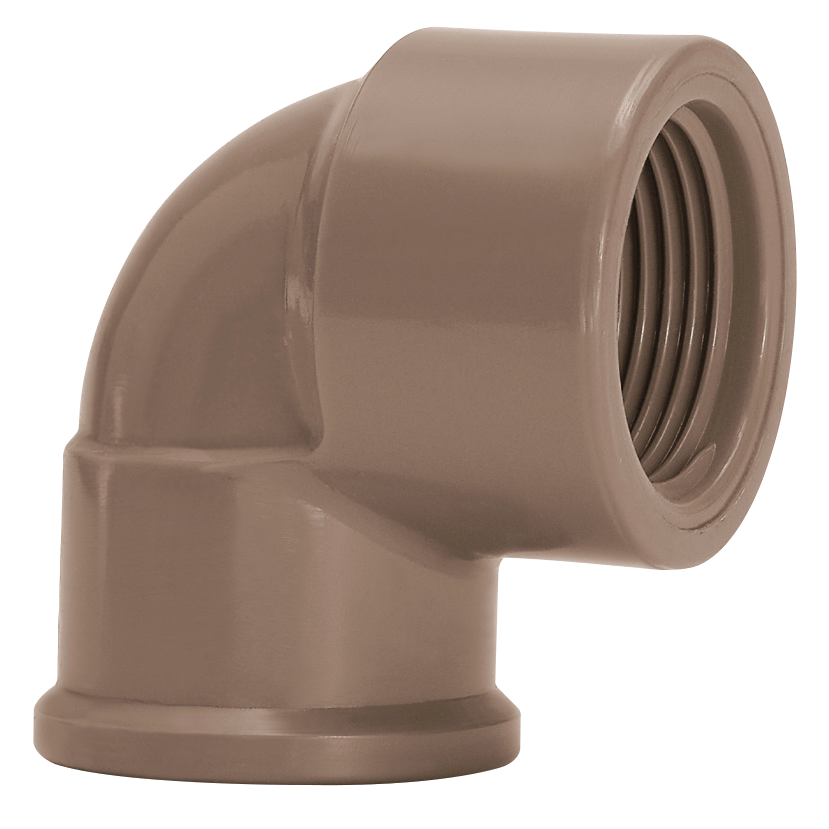 Joelho 90 PVC Marrom 25 mm - Amanco