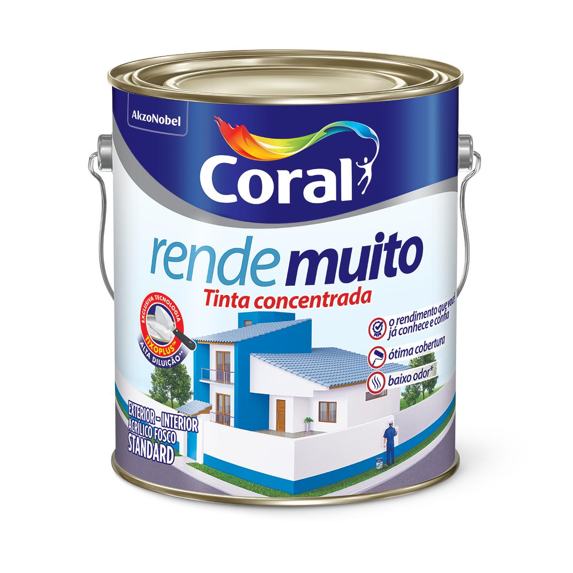Tinta Acrilica Fosco Standard 36L - Laranja Maracatu - Rende Muito Coral