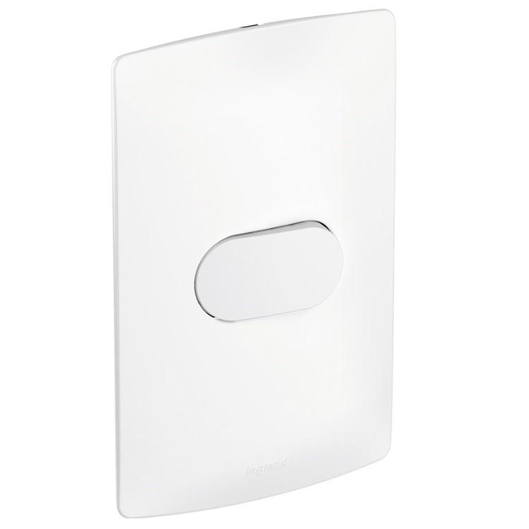 Conjunto Interruptor Paralelo 1 Modulo 10A - Branco - Nereya - Legrand