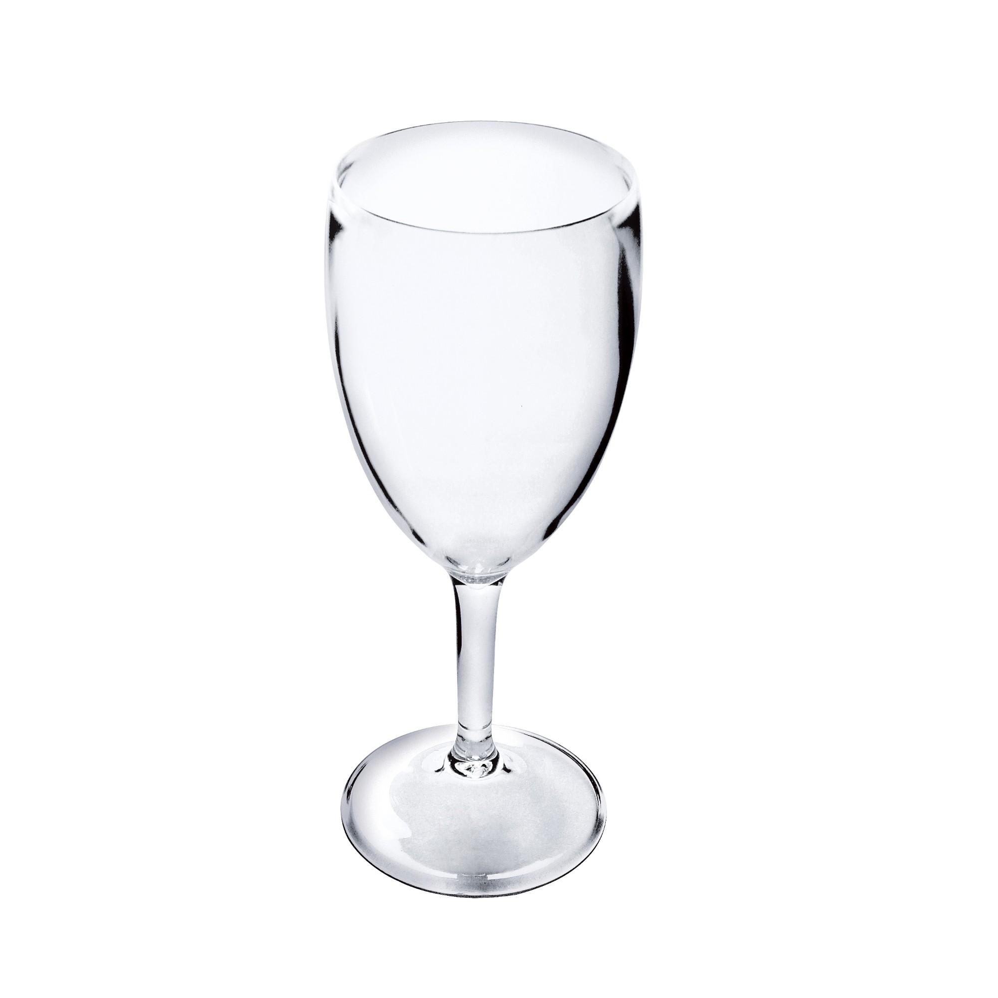 Taca de Vinho de Acrilico 400ml Transparente - Kos