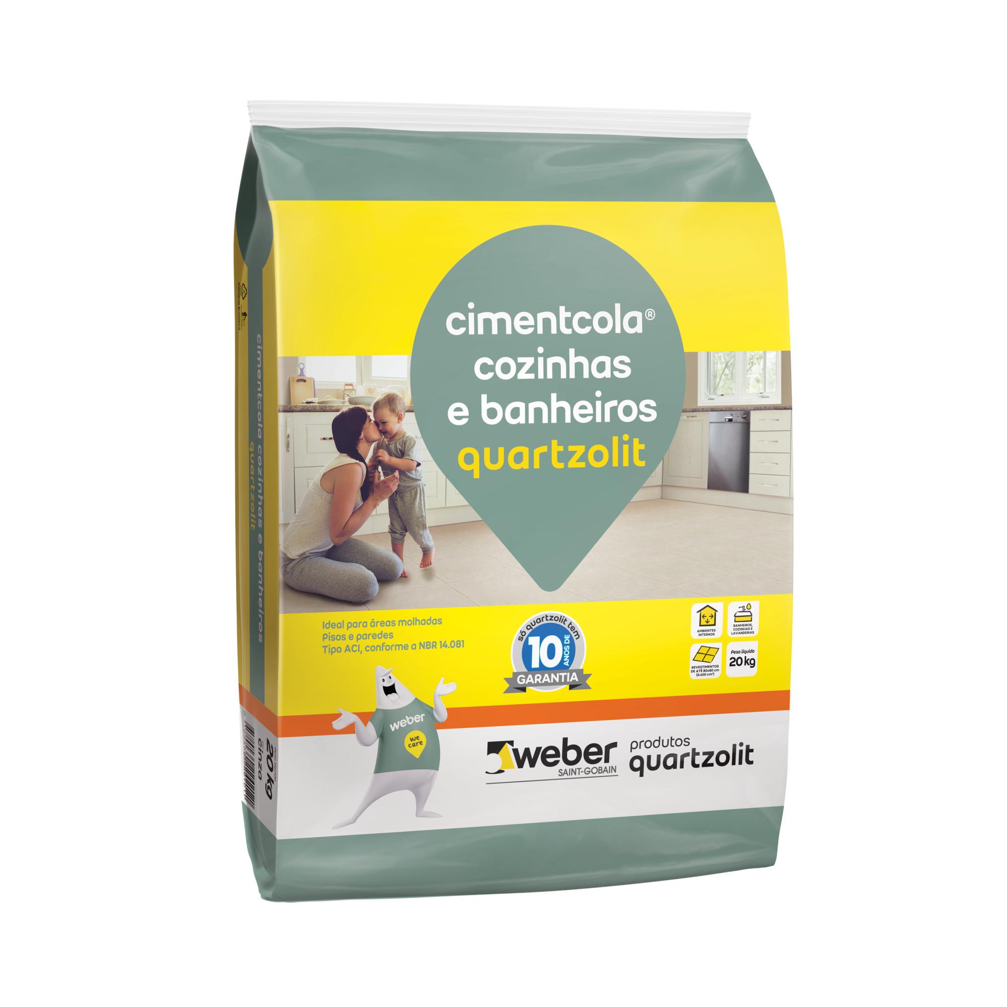 Argamassa ACI Cimentcola CozinhaBanheiro 20kg - Quartzolit