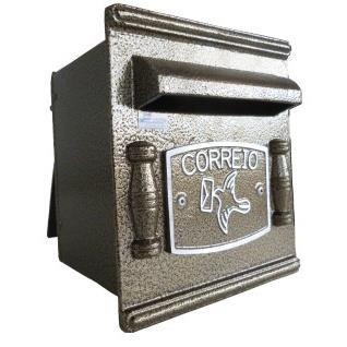Porta-cartas Aluminio 20x19 cm Repop Bronze - Prates e Barbosa