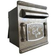 Porta-cartas Alumínio 20x19 cm Repop Bronze - Prates e Barbosa