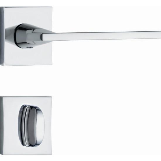 Fechadura WC Roseta e Macaneta Cromado 3000 Stam - Stam