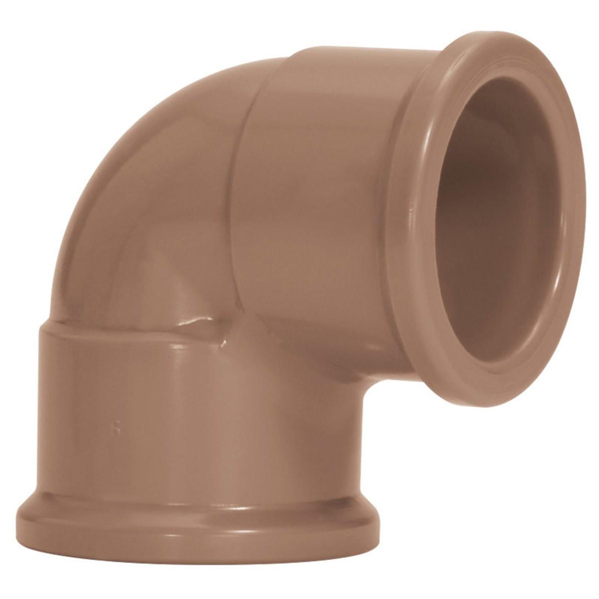 Joelho 90 Soldavel PVC Marrom 25 mm - Amanco