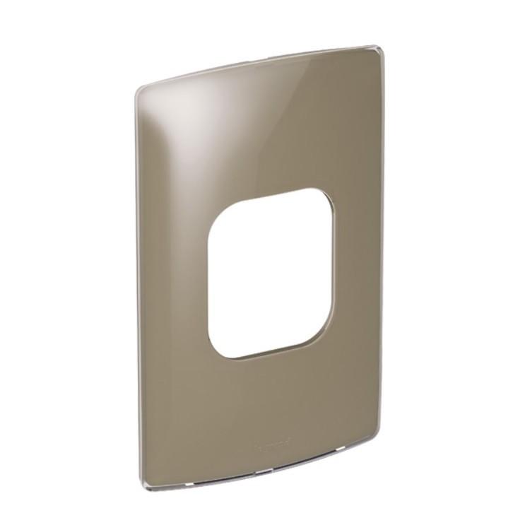 Placa 4x2 2 Postos Adjacentes Malt Gloss T663235 Nereya - Legrand