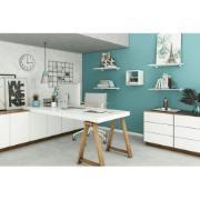 Prateleira 40 cm Branca com Suporte em MDP Concept 40x20 cm- Prat-k