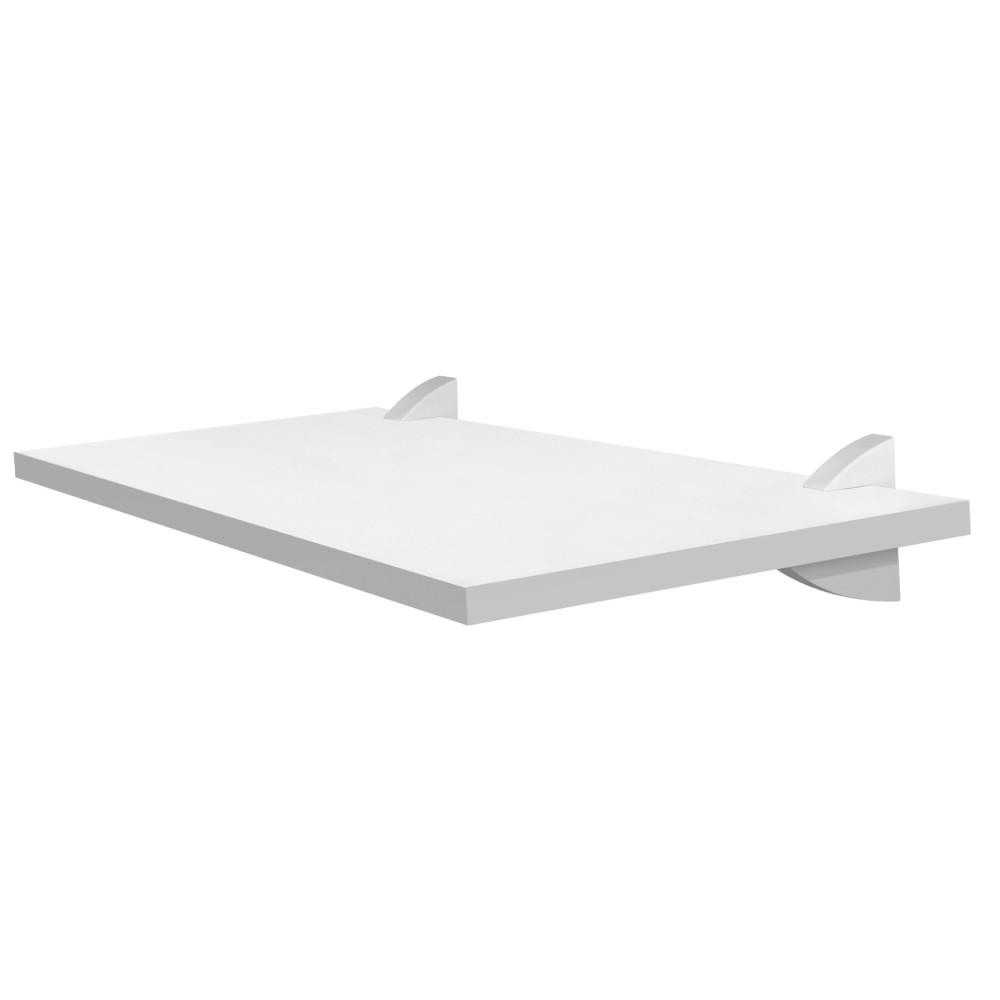 Prateleira Reta Branca de Madeira com Suporte 25x60 cm - Prat-k