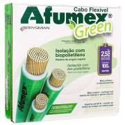 Cabo Flexível Antichamas Afumex Green 2,50 mm² Caixa com 100 m 750V 1 Condutor Verde - Prysmian