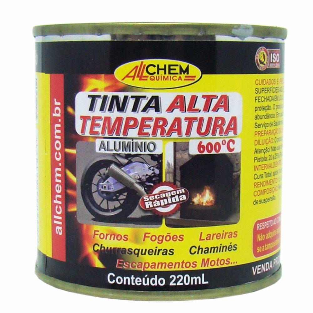 Tinta Alta Temperatura 600C 022L Aluminio - Allchem Quimica