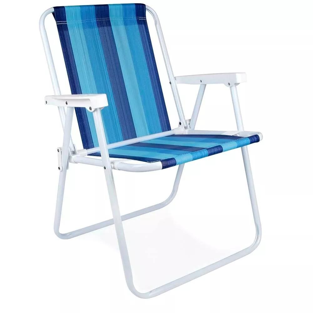 Cadeira de Praia Aluminio Polietileno 2101 - Mor