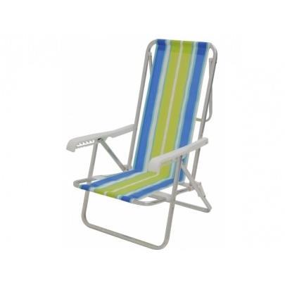 Cadeira de Praia Aluminio Reclinavel 8 Posicoes 2104 - Mor