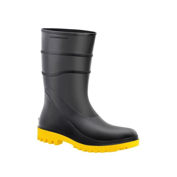 Bota de PVC Cano Curto Amarelo Numero 43 - Acqua Flex 82BPC - Bracol