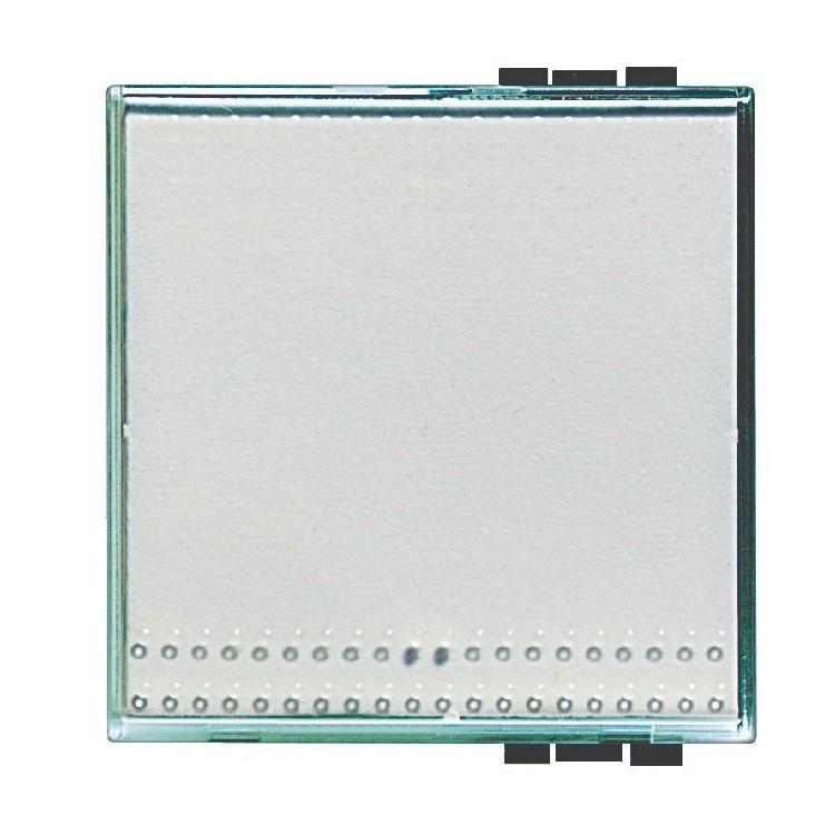 Tampa para Interruptor Kristall 2 Modulos SN49322F Light - Bticino