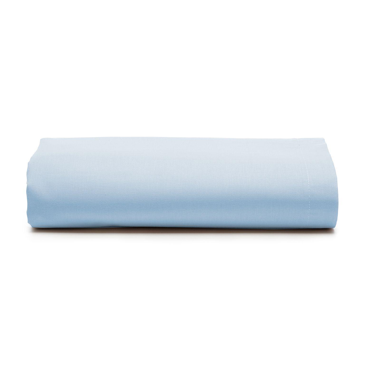 Lencol Casal Royal com Elastico 100 Algodao Azul - Santista