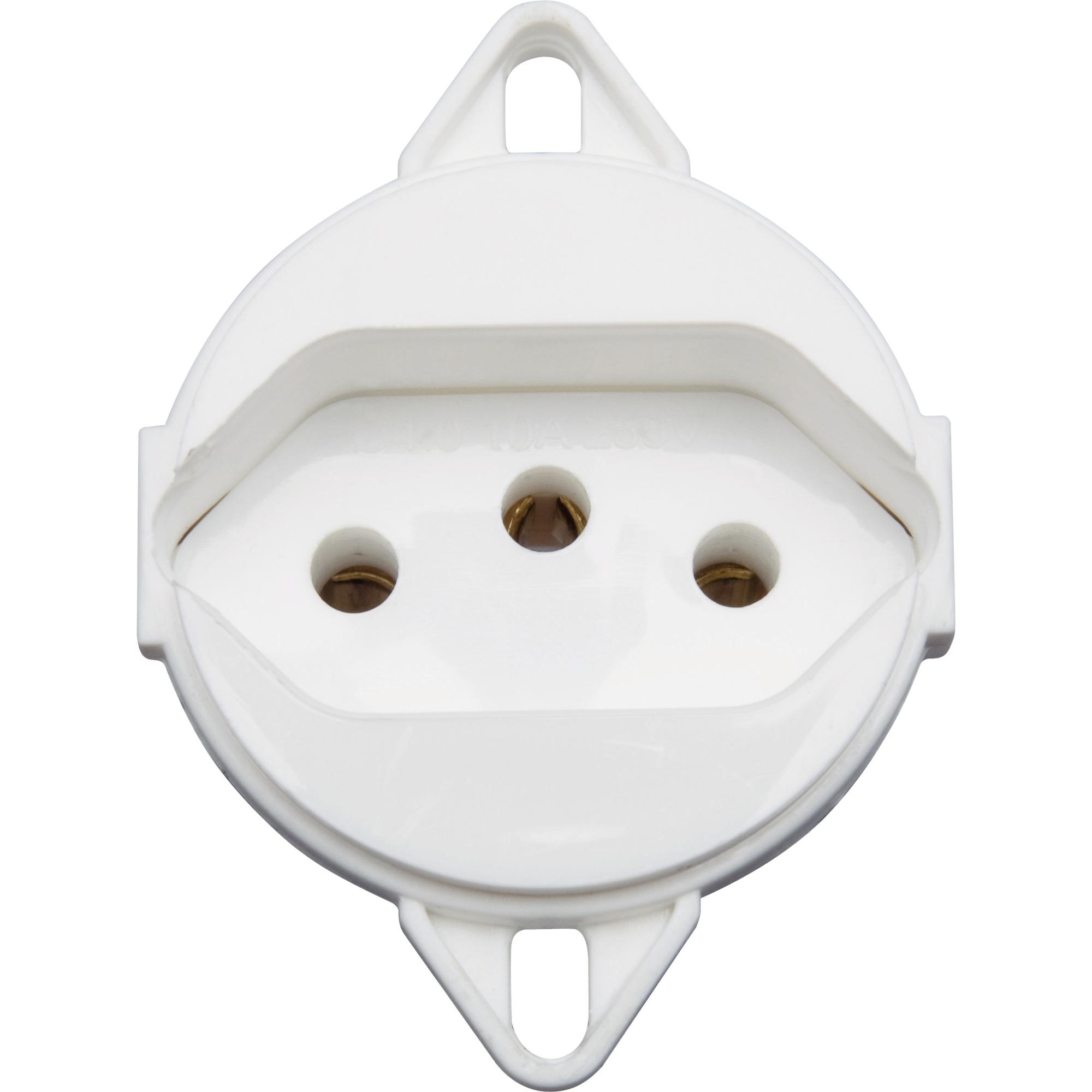 Modulo de Tomada de Energia 1 Modulo 2P T 10A Branco - Acessorios Para Eletrodutos - Tramontina