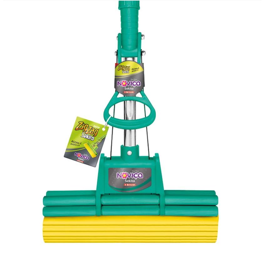 Mop para Agua Zig Zag Espuma Verde Sekito 442144 - Bettanin