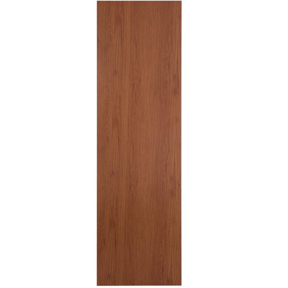 Porta de Madeira Lisa 80x210 cm Mogno para Apartamento - Madelar