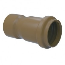 Luva Simples PVC Marrom 50 mm - Tigre