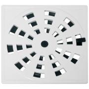 Grelha de Plástico Quadrada para Esgoto Giratória Branca GRB5 - Astra