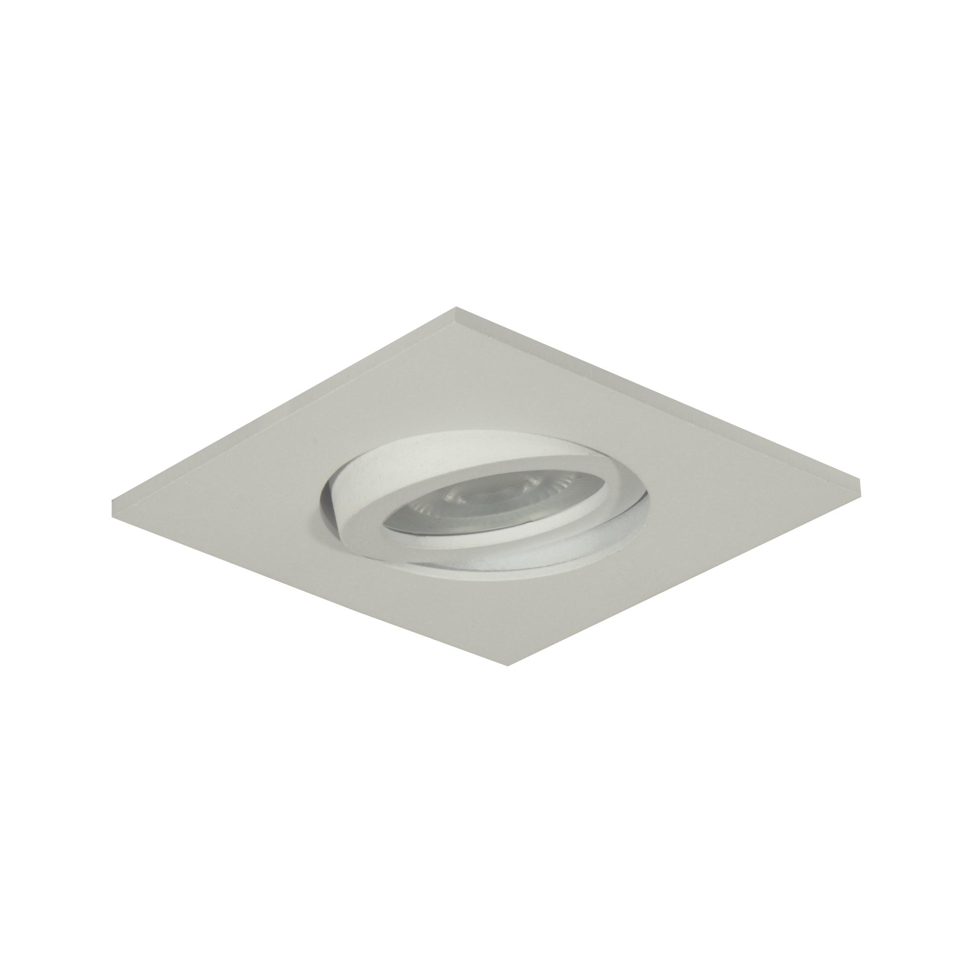 Spot Embutir Aluminio Dicroica Quadrado Branco 8605 - Goli