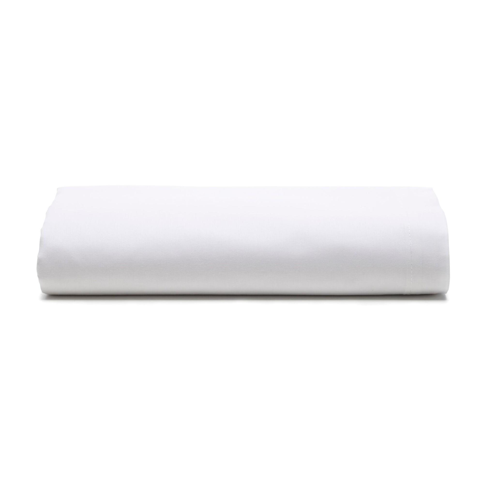 Lencol Queen Prata sem Elastico 100 Algodao Branco - Santista