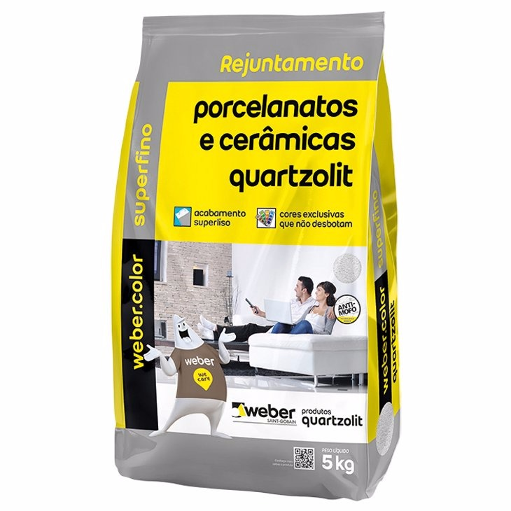 Rejunte Porcelanato Weber Corda Saco5kg - Quartzolit