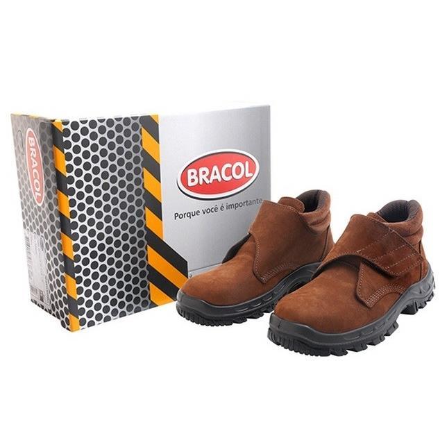 Bota de Couro Velcro Marrom Numero 42 - Plus BVL - Bracol