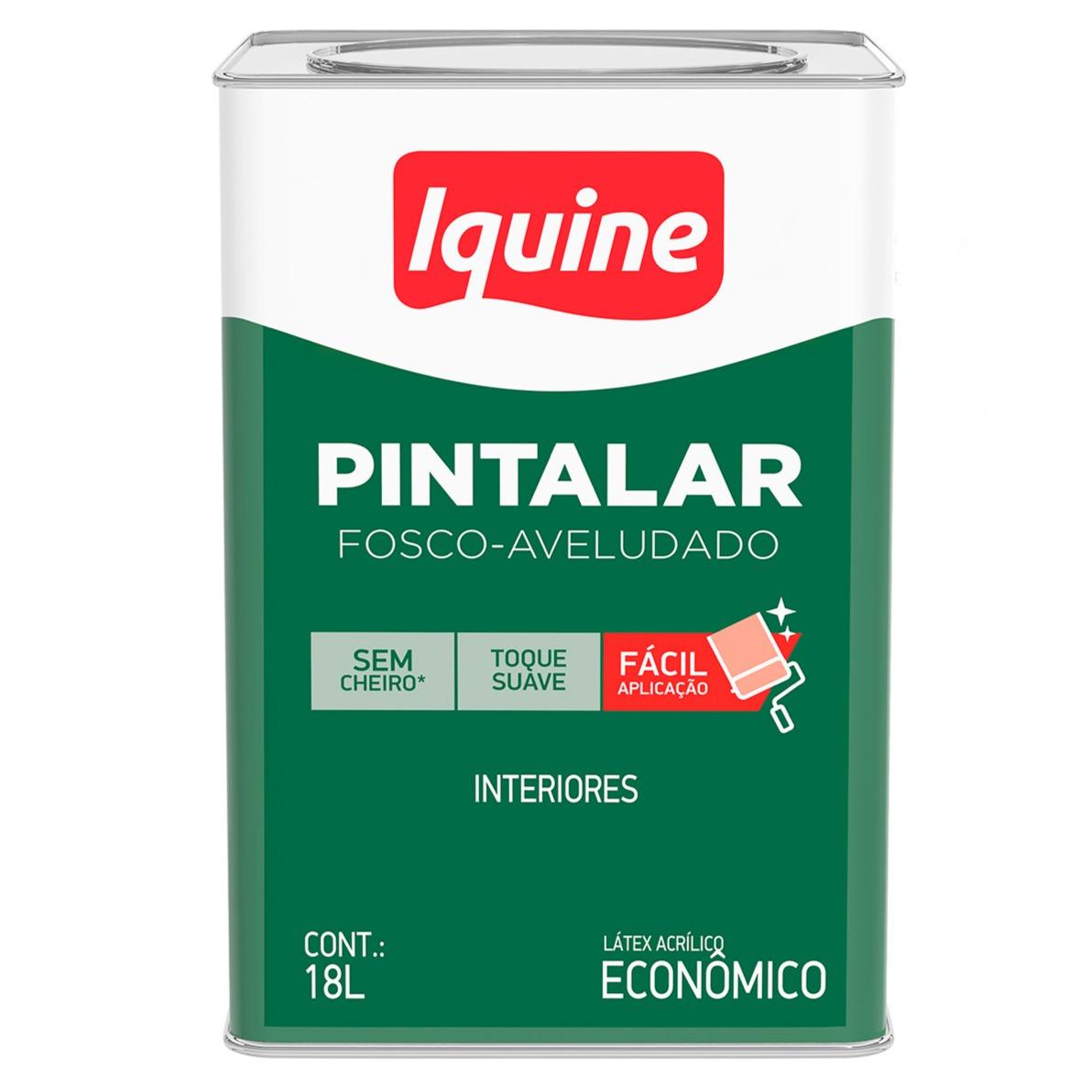 Tinta Acrilica Fosco Economica 18L - Branco Gelo - Pintalar Iquine