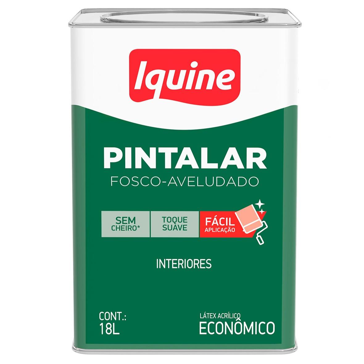 Tinta Acrilica Fosco Economica 18L - Palha - Pintalar Iquine