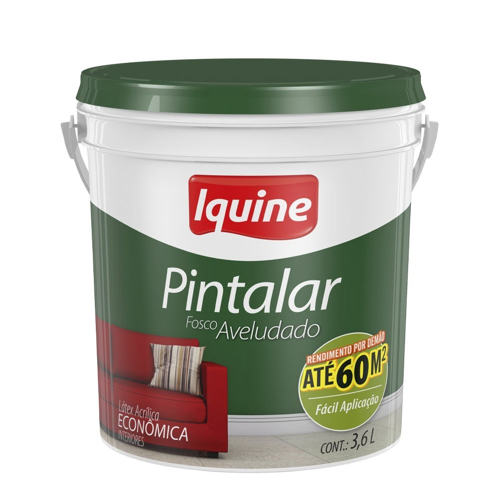 Tinta Acrilica Fosco Economica 36L - Areia - Pintalar Iquine