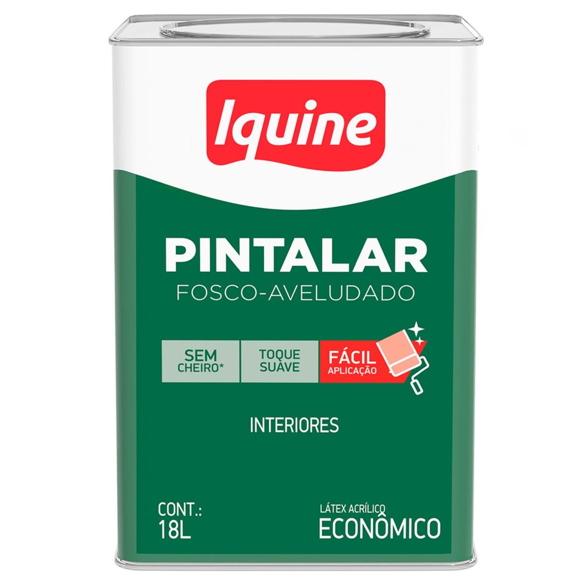 Tinta Acrilica Fosco Economica 18L - Areia - Pintalar Iquine