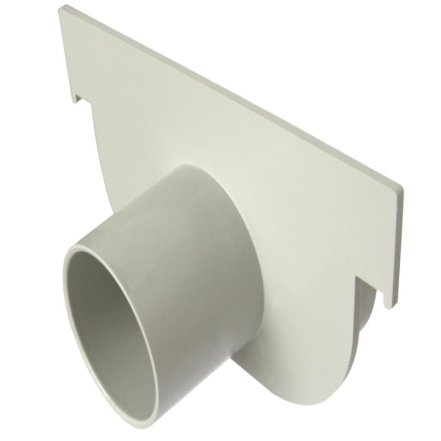 Cabeceira de PVC Circular 130 x 75 x 40 mm Cinza Claro - Drenagem Pluvia Tigre
