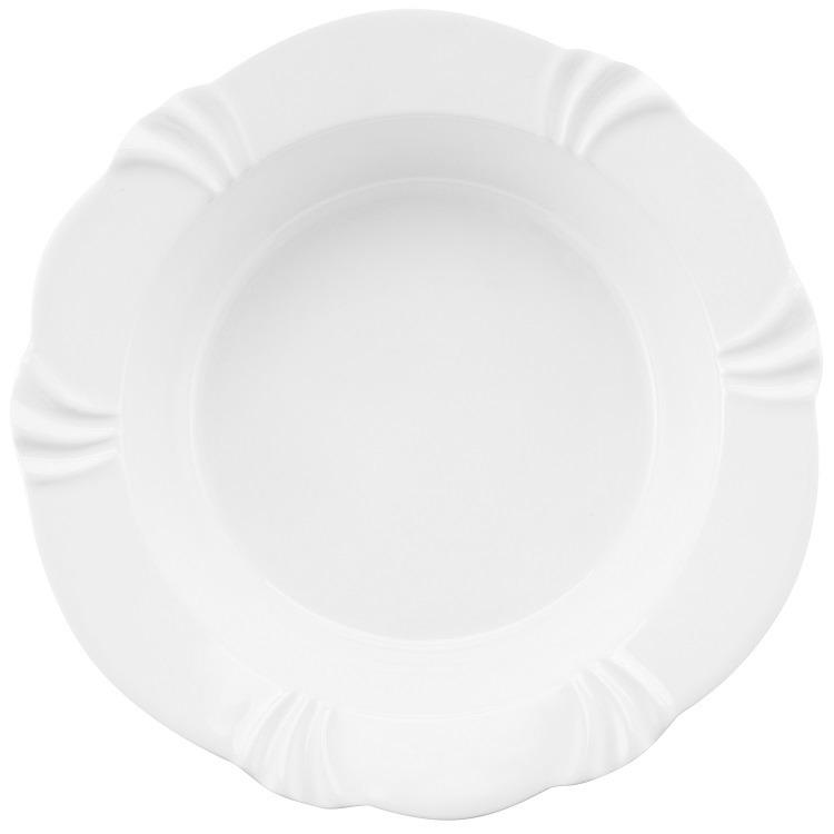 Saladeira Funda de Porcelana Redonda 2000ml Branco - Oxford