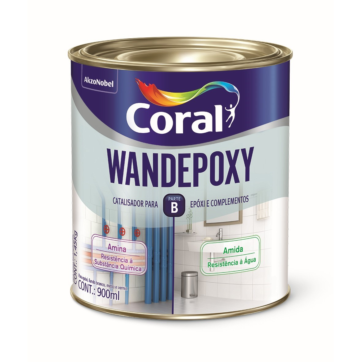 Catalisador para Fundo Epoxi 09L Amina - Wandepoxy Coral