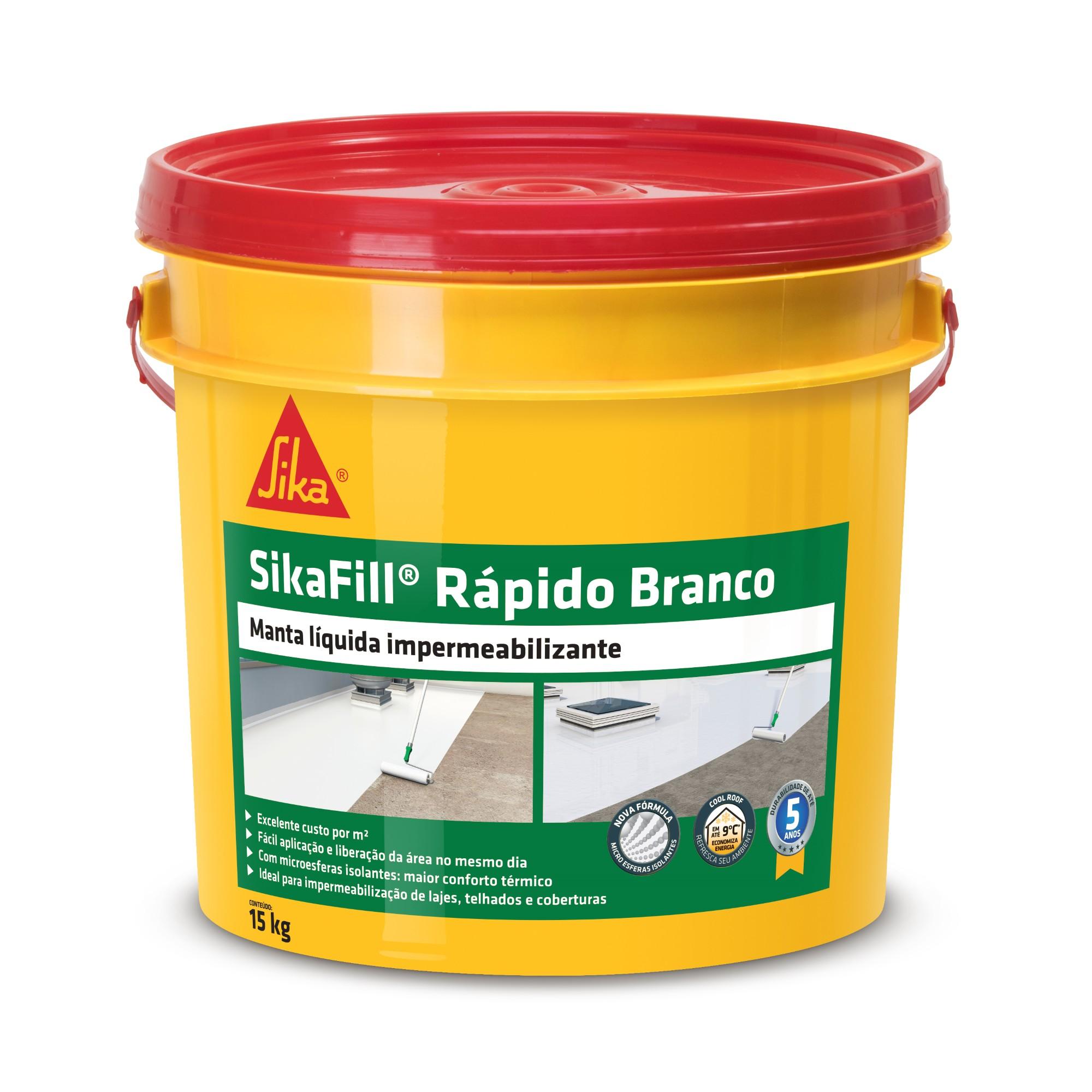 Impermeabilizante SikaFill Rapido Concreto Branco 15kg - Sika