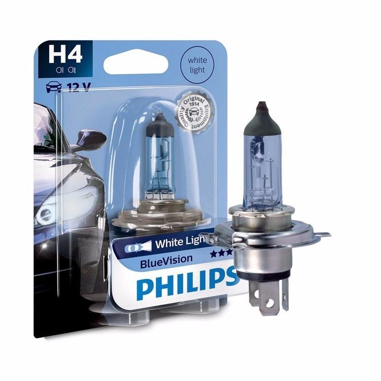 Lampada para Farol Automotivo H4 12V Blue Vision - Philips